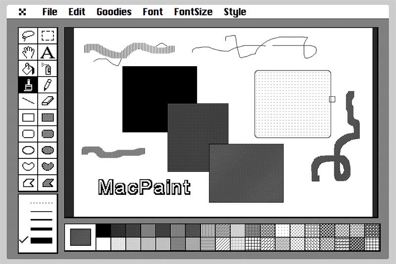 ブラウザでMacPaintを再現「CloudPaint」