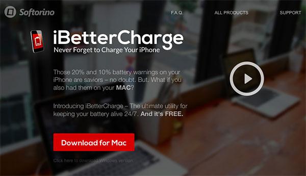 これは超便利!MacからiPhoneのバッテリー残量が確認できるiBetterCharge