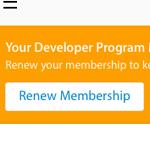 Apple Developer Programの期限切れ、1ヶ月前にメールが来た
