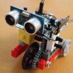 【Scratch & LEGO】LEGOなのか〜に超音波センサーをつけてみた