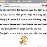 Scratch 2.0で使えるフォントをダウンロードする