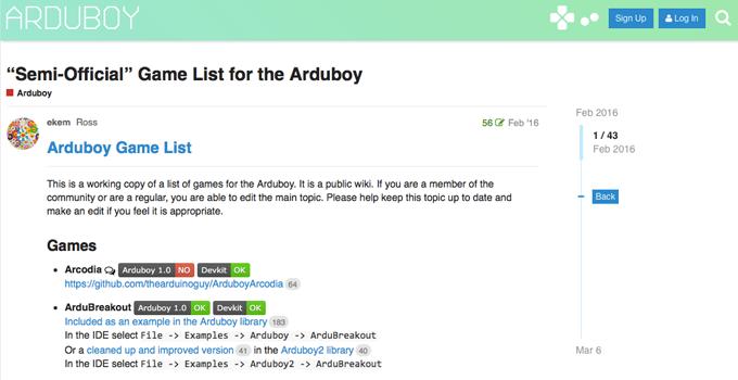Arduboyにゲームを入れる手順
