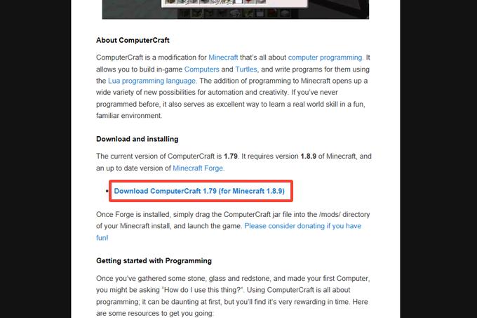 マイクラにComputerCraftを導入する手順