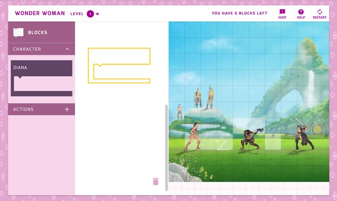 「Made With Code」の「Wonder Woman」のプロジェクトにチャレンジ!