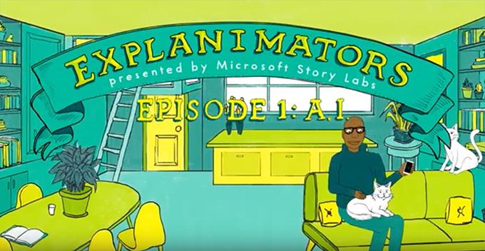 アニメで最新テクノロジーを学べる「Microsoft Story Labs 」