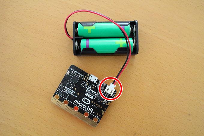 【micro:bit】バッテリーコネクタは奥まで挿しこむと外しにくい