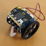 「micro:bit用回転サーボモーターモジュールキット」プログラムカーを動かす