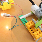 「電気を効率よく使うにはどうしたらよいかを考えよう」をWeDoを使って試してみた