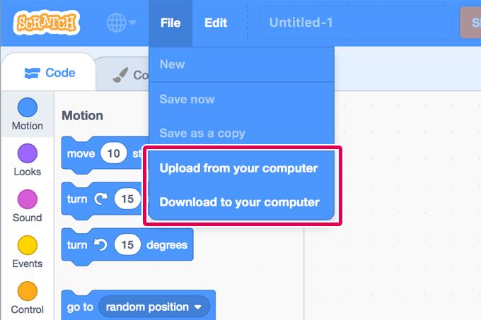 【Scratch3.0プレビュー版】プロジェクトの保存・読み込み機能が追加