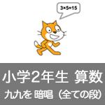 【既存の教科でプログラミング授業】九九を暗唱(全ての段)