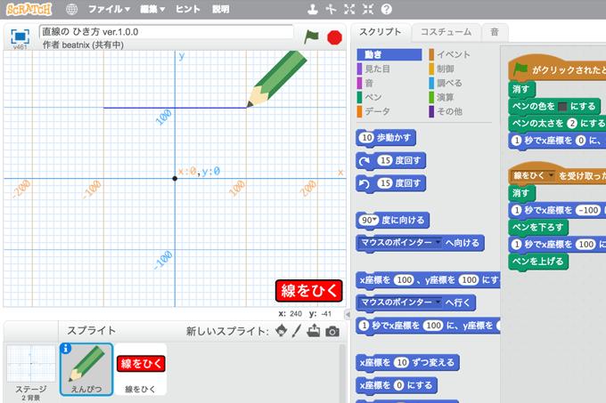 【既存の教科でプログラミング授業】直線の ひき方