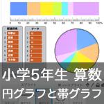 【既存の教科でプログラミング授業】円グラフと帯グラフ
