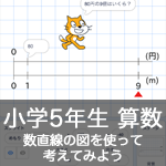 【既存の教科でプログラミング授業】数直線の図を使って考えてみよう1