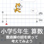 【既存の教科でプログラミング授業】数直線の図を使って考えてみよう2