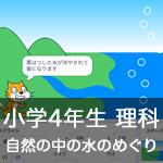 【既存の教科でプログラミング授業】自然の中の水のめぐり