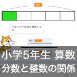 【既存の教科でプログラミング授業】分数と整数の関係