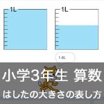 【既存の教科でプログラミング授業】はしたの大きさの表し方