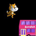 【Scratch】光が当たるねこ
