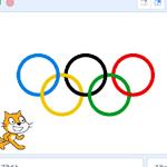 【Scratch】オリンピックのマークを描く