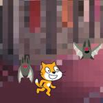 【Scratch】ダメージを受けた時にエフェクト
