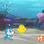 【Scratch】海の中