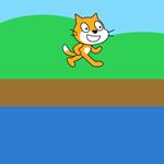 【Scratch】川をジャンプして渡る