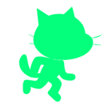 【Scratch】ねこのシルエット