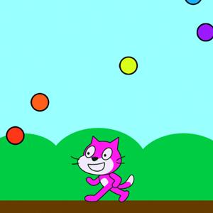 【Scratch】色が変わるねこ