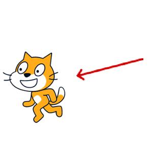【Scratch】ねこに向く矢印