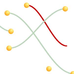 【Scratch】2点を曲線で結ぶ